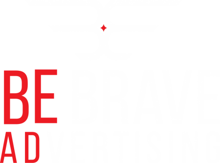 be brave advertising logo